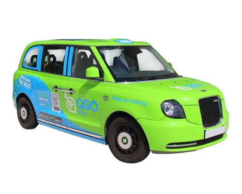 Green QGO Delivery Vehicle